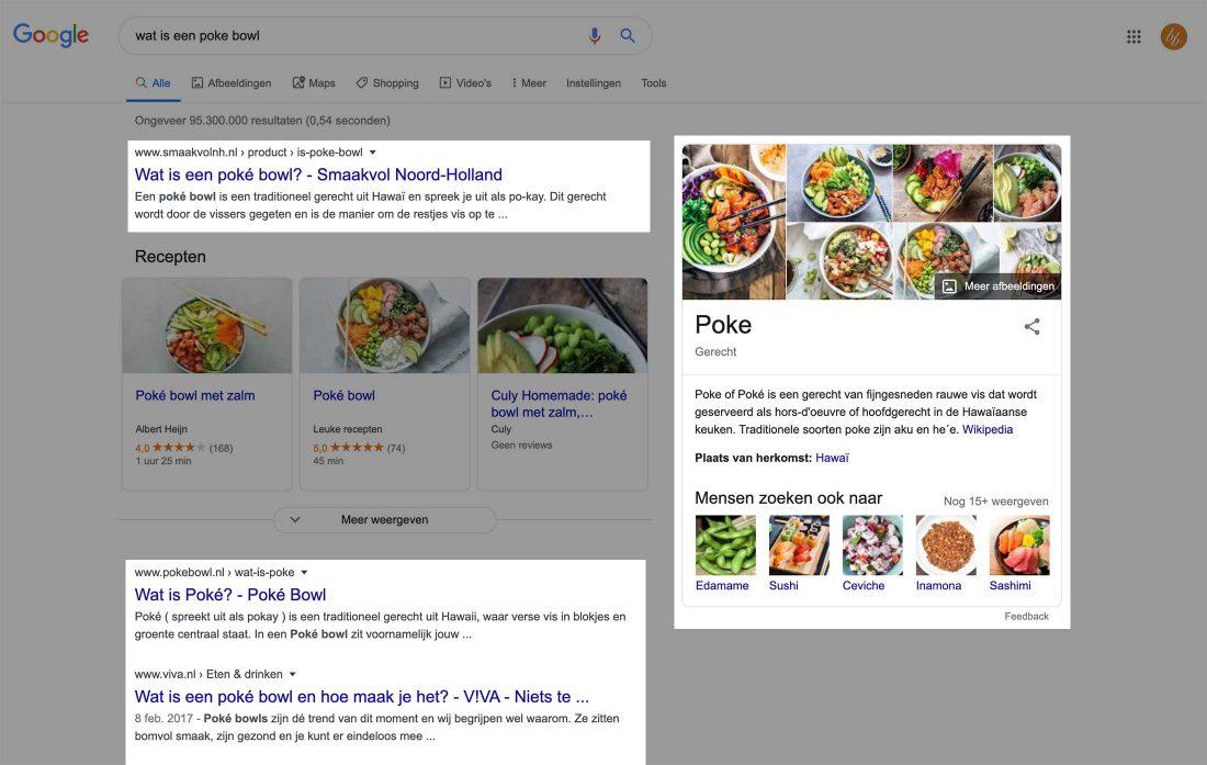 De zoekopdracht 'wat is een pokebowl' heeft een informatieve zoekintentie.
