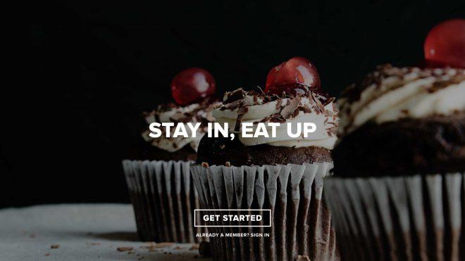 Homepage met get started
