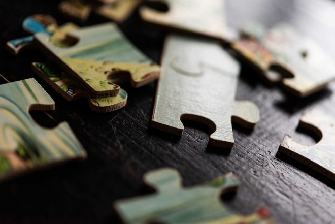 Losse puzzelstukjes