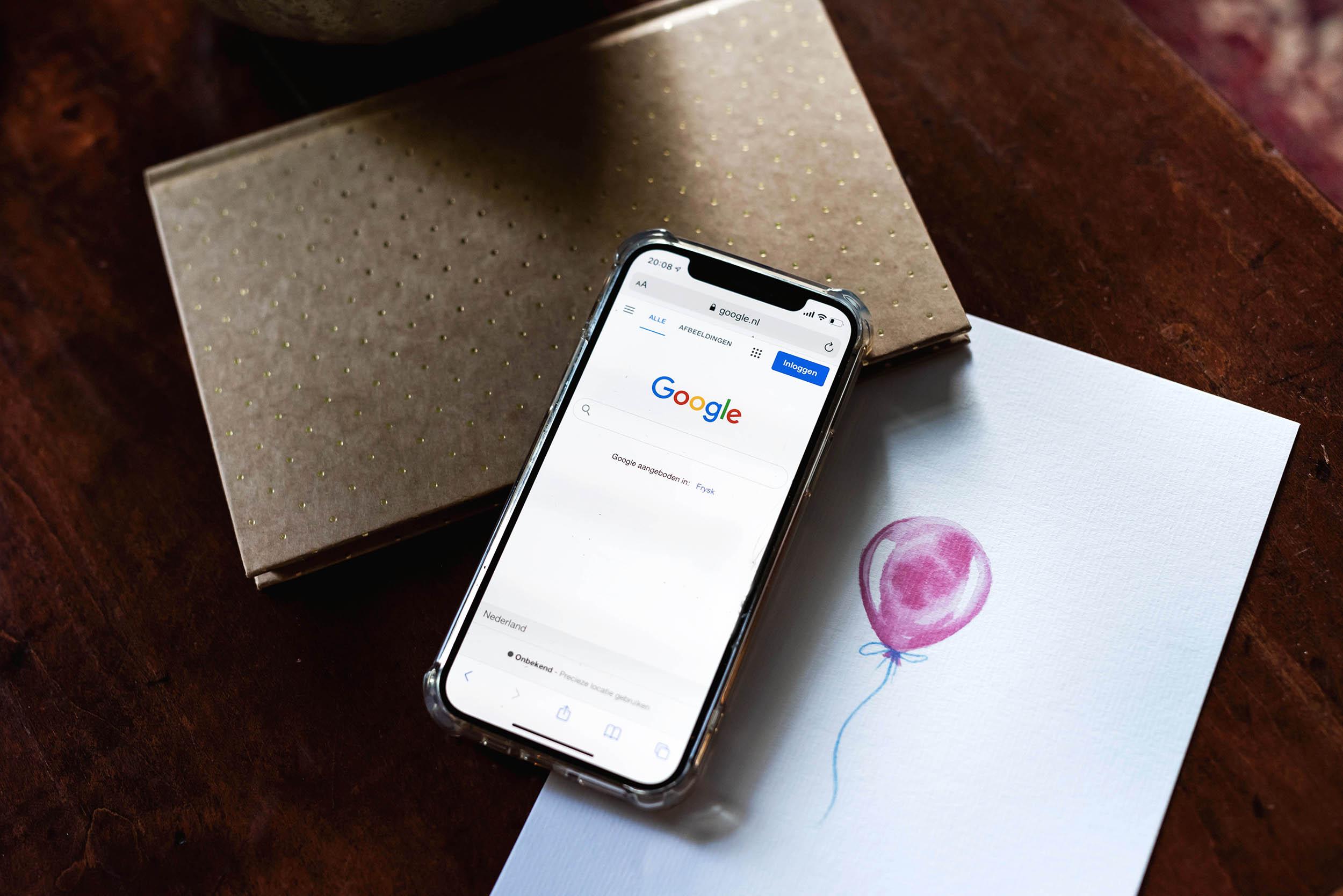 Google op mobiel