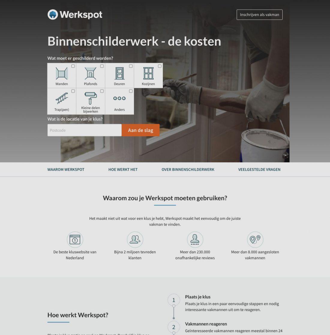 Voorbeeld van goed webdesign