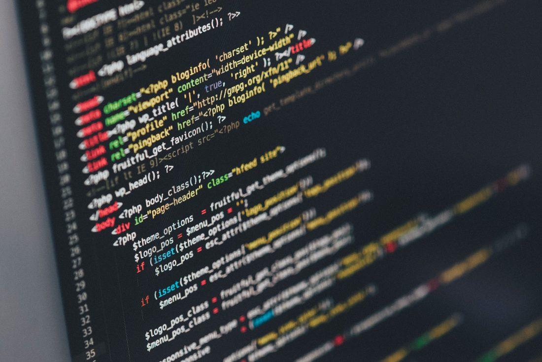 Closeup website code