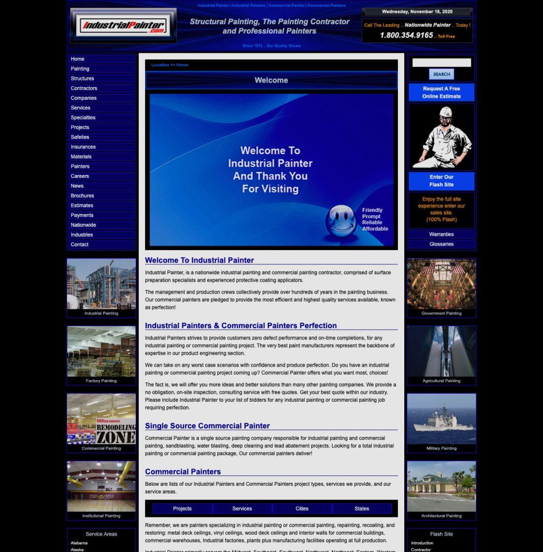 Voorbeeld van slecht webdesign