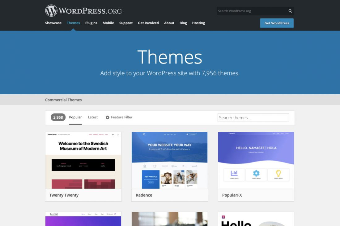 wordpress gratis themas
