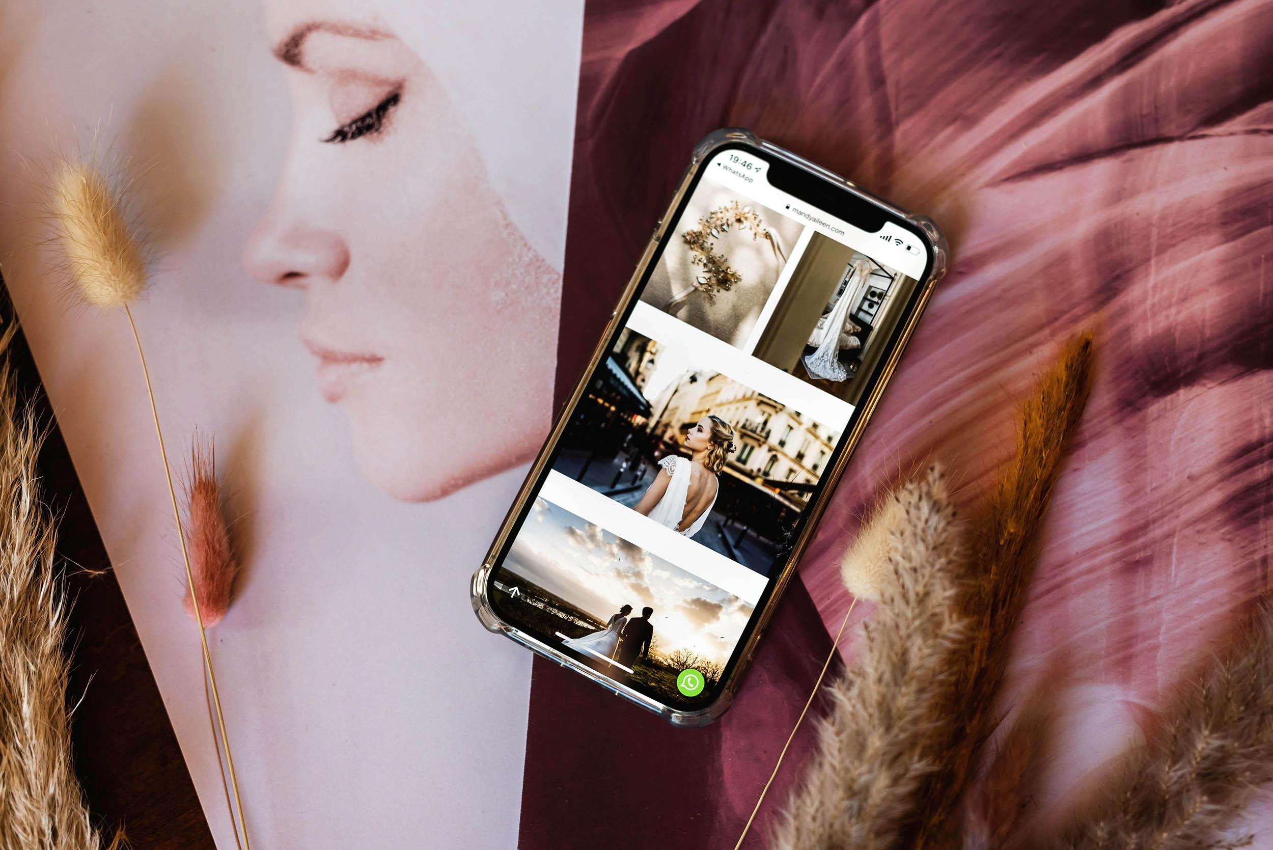 Afbeelding galerij op een mobiele website