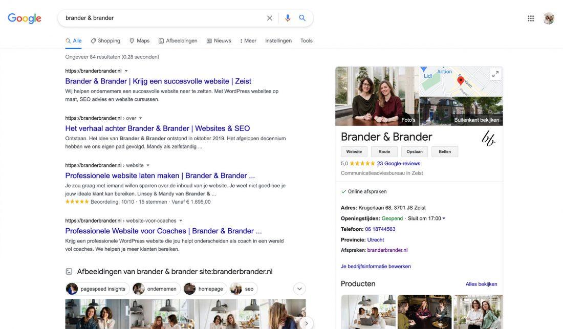 Bedrijfsprofiel in Google