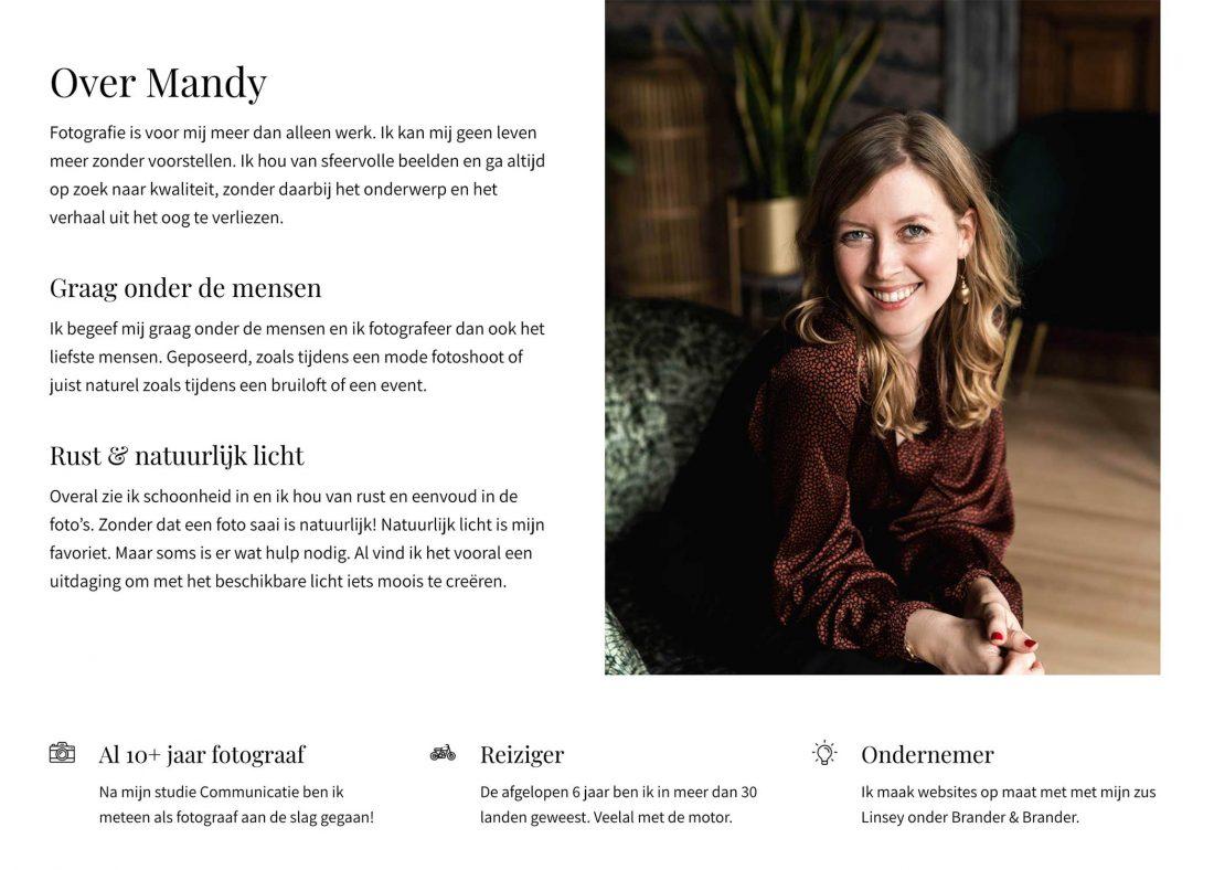 Over Mij tekst op mandybrander.nl